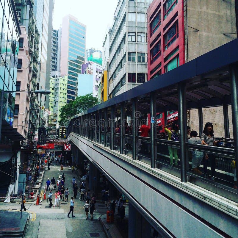 Hong Kong Midlewel Street royalty free stock photos