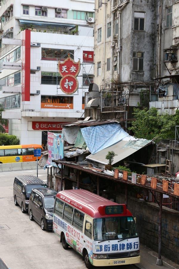 Hong Kong Minibus stock afbeeldingen