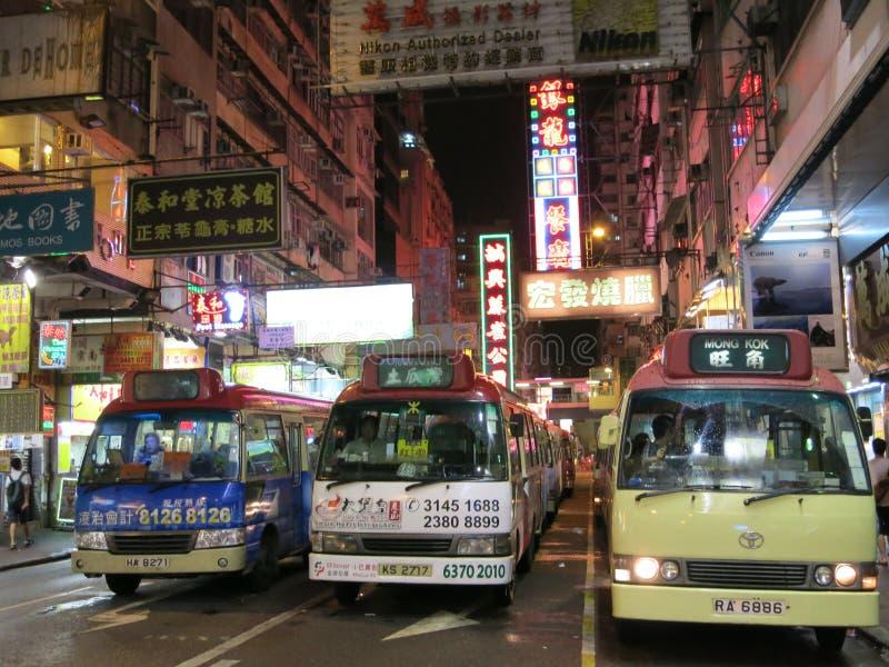 Hong Kong-minibussen royalty-vrije stock foto