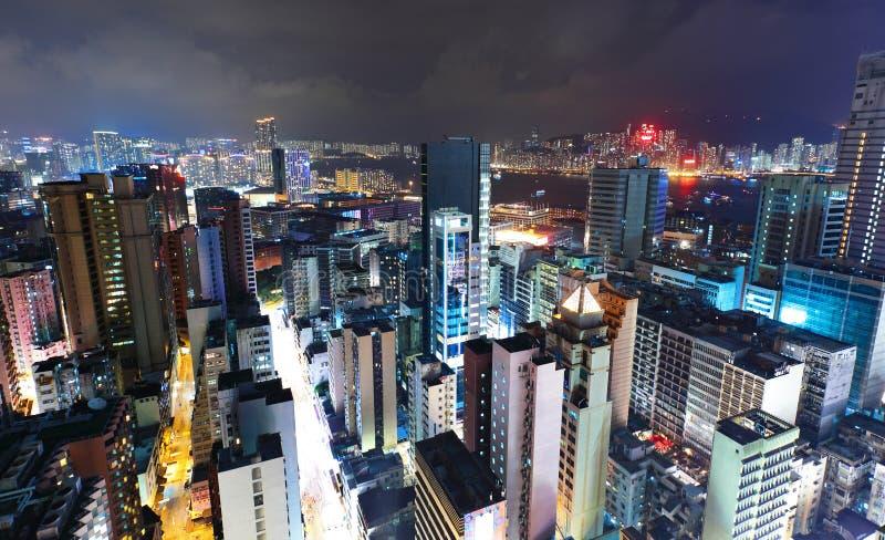 Hong Kong mit gedrängtem Gebäude lizenzfreies stockbild