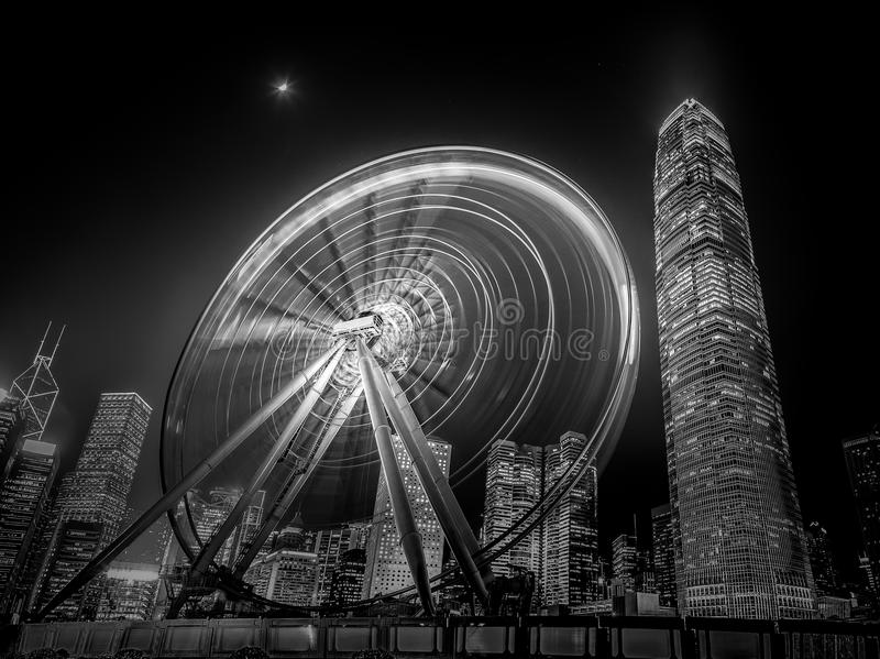 Hong Kong modern architecture Black and White stock photography