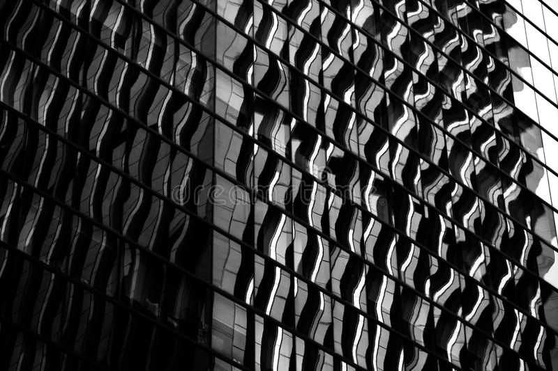 Hong Kong modern architecture Black and White stock image