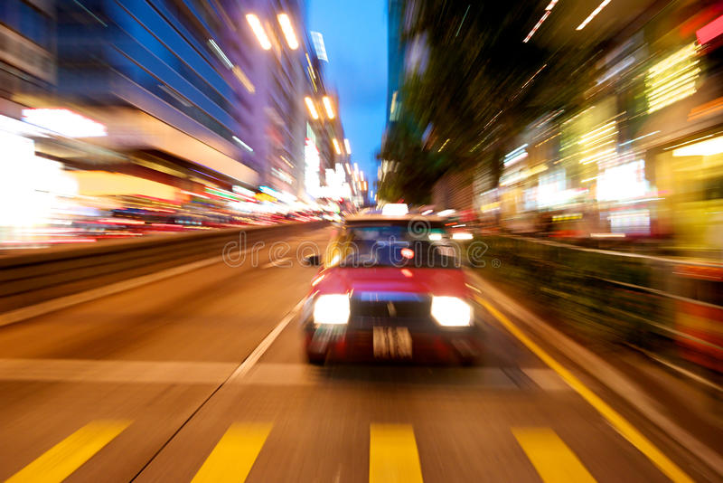 Download Hong Kong in motion stock photo. Image of dramatic, taxi - 26487630