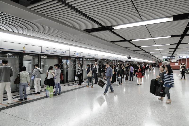 Hong Kong MTR fotografia de stock