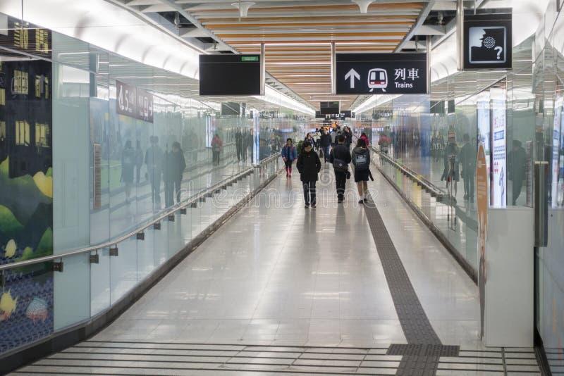 Hong Kong MTR Lei Tung Station fotografering för bildbyråer