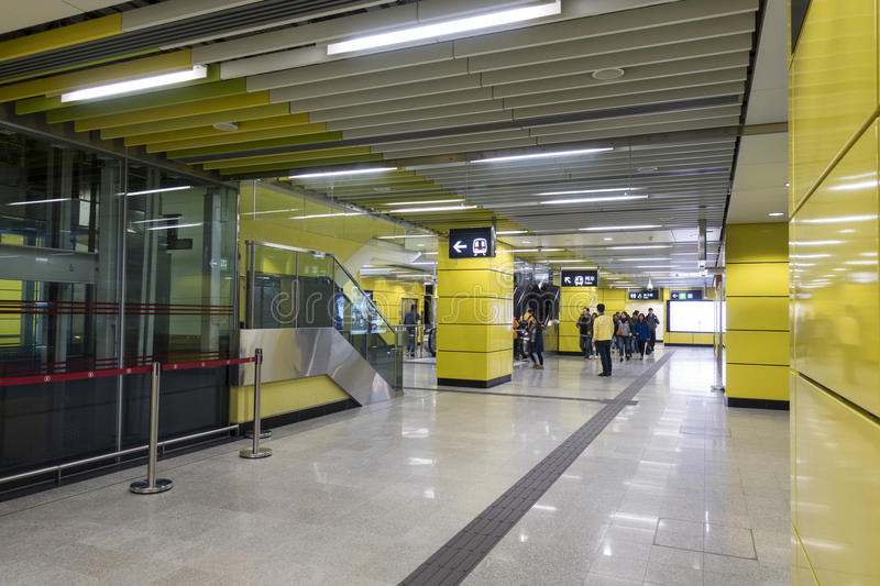Hong Kong MTR Wong Chuk Hang Station foto de archivo libre de regalías