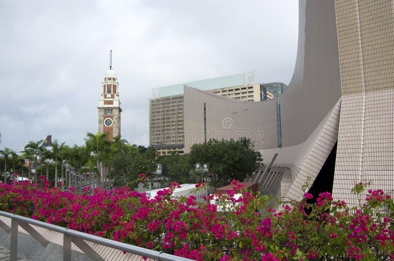 Hong Kong Museum del arte y de la torre de reloj fotos de archivo libres de regalías