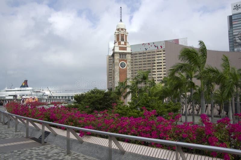 Hong Kong Museum del arte y de la torre de reloj foto de archivo libre de regalías