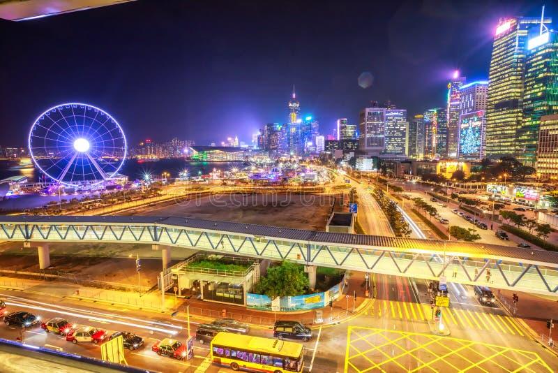 Hong kong na lotniczy obrazy royalty free