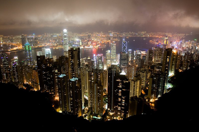 Hong kong na lotniczy zdjęcie royalty free