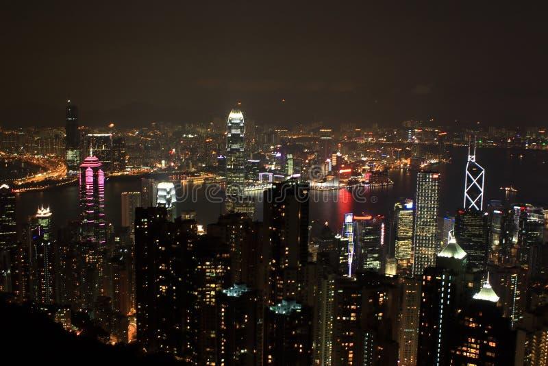 Hong Kong nachts lizenzfreie stockbilder