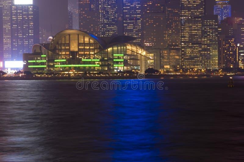 Hong Kong - NachtStadtbild stockbilder