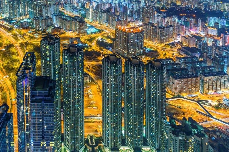Hong Kong natt arkivfoto