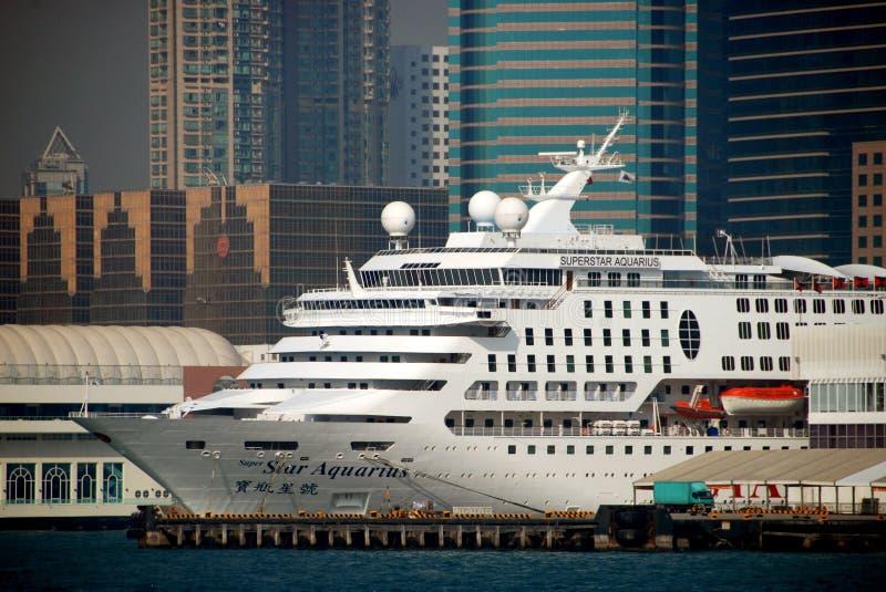 Hong Kong: Nave da crociera eccellente del Aquarius della stella immagini stock