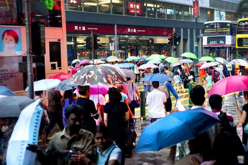 Hong Kong nella pioggia fotografia stock