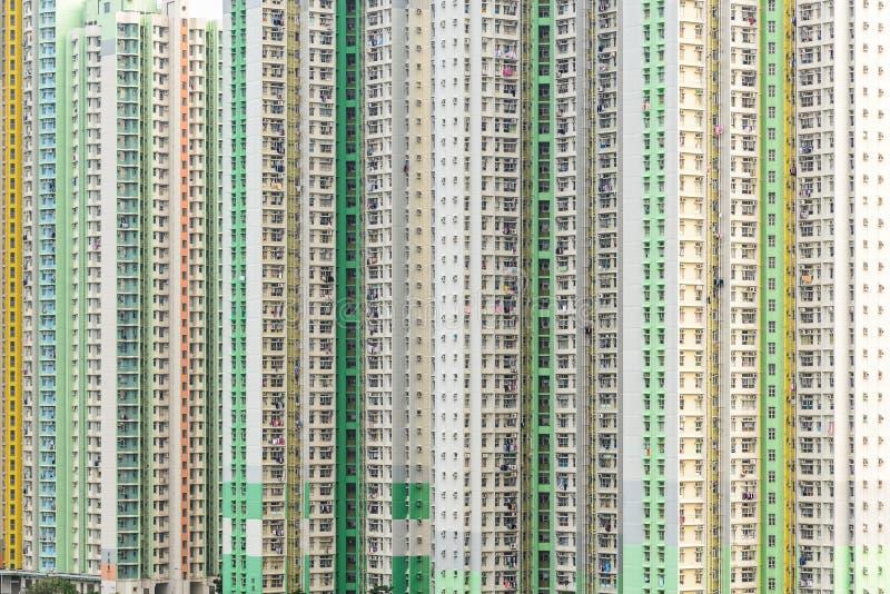 Hong Kong new public housing. House like small block stock photos