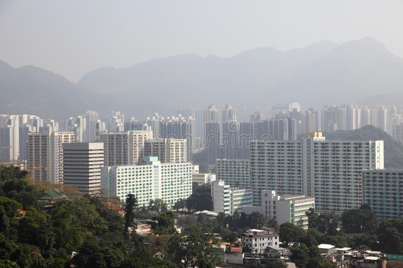 Hong Kong New Territories. Residential District royalty free stock photography