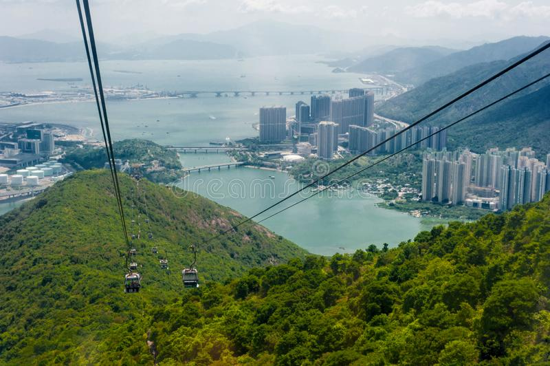 Hong Kong Ngong Ping 360 royaltyfri fotografi