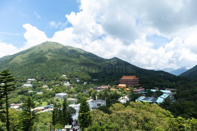 HONG KONG NGONG PING July 26o 2018: Teleférico interurbano através da montanha em Hong Kong, foto de stock