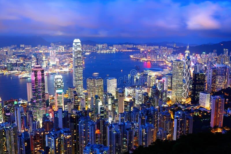 Download Hong Kong at night stock image. Image of landscape, peak - 26498857