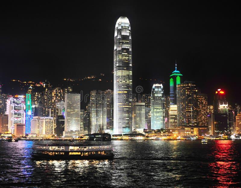 Hong Kong At Night Stock Photography