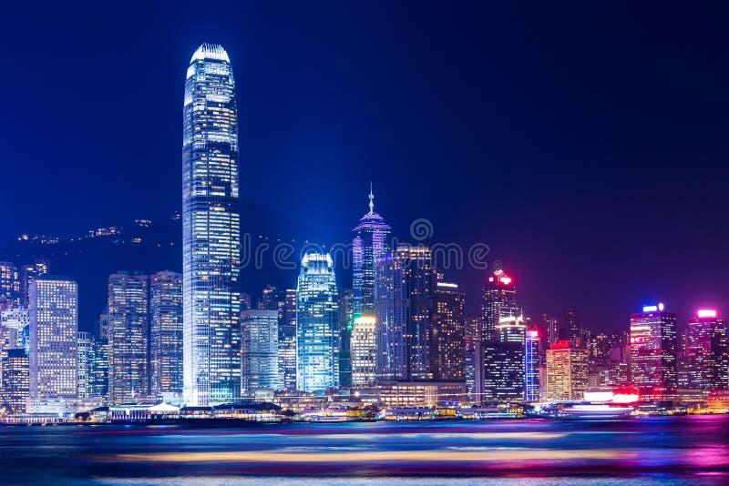 Hong Kong night stock photography