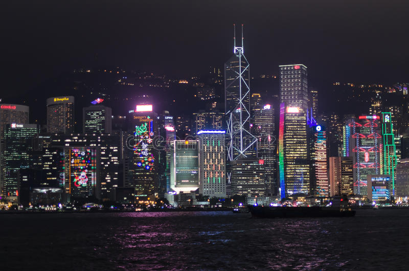 Download Hong Kong at Night editorial stock photo. Image of asia - 83705988