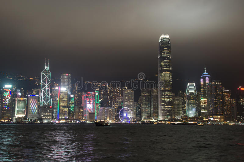 Download Hong Kong At Night Editorial Stock Photo - Image: 83706633