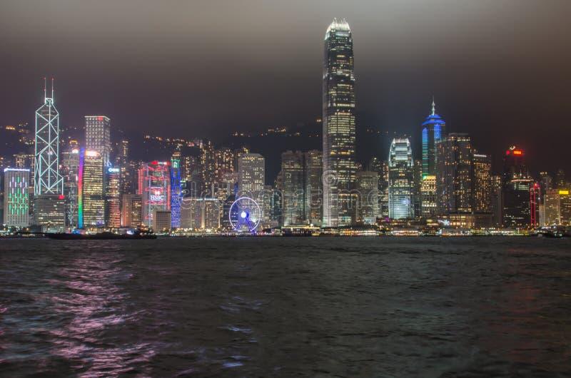 Download Hong Kong at Night editorial stock photo. Image of night - 83707358