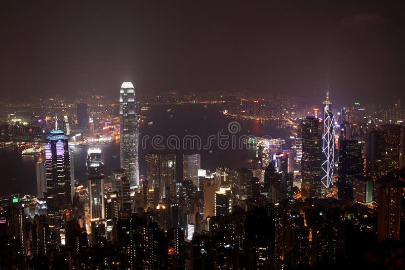 Hong Kong Night Scene royalty free stock photos
