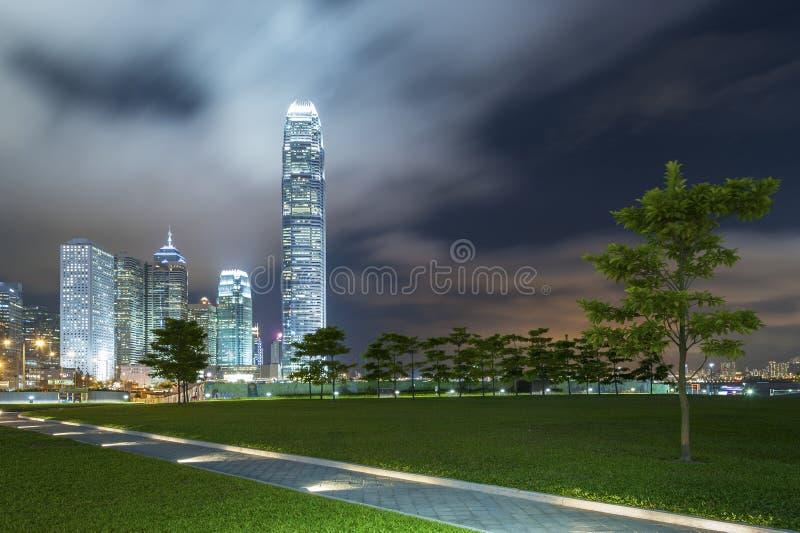 Hong Kong. Night Scene of Hong Kong City stock images