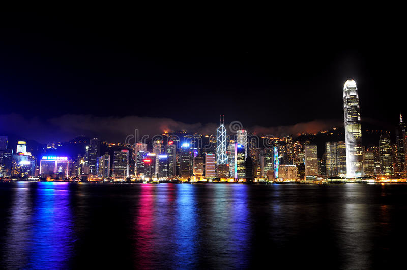 Hong kong night scenery victoria habour