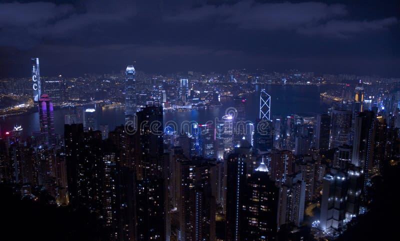 Hong Kong Night Sky fotos de archivo libres de regalías