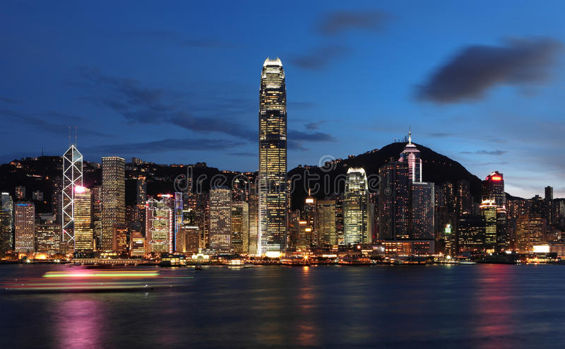 Hong Kong night view stock images