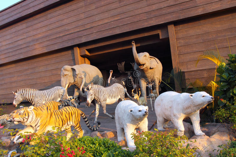 Hong Kong : Noah's Ark. The Animals walking from the Noah's Ark stock images