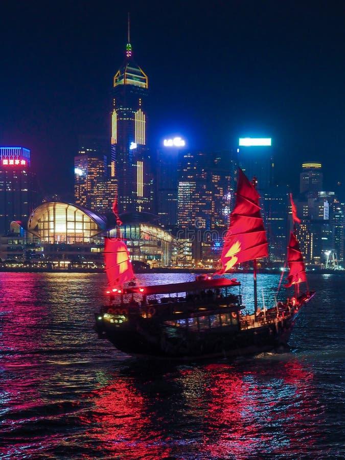 hong kong noc widok zdjęcie stock