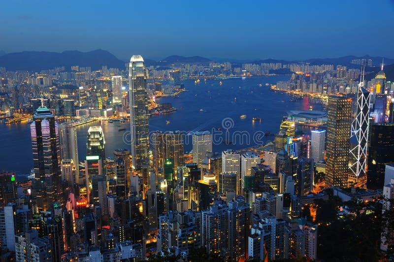Hong Kong nocy scena fotografia stock