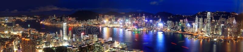 Hong Kong nocy widok zdjęcie stock