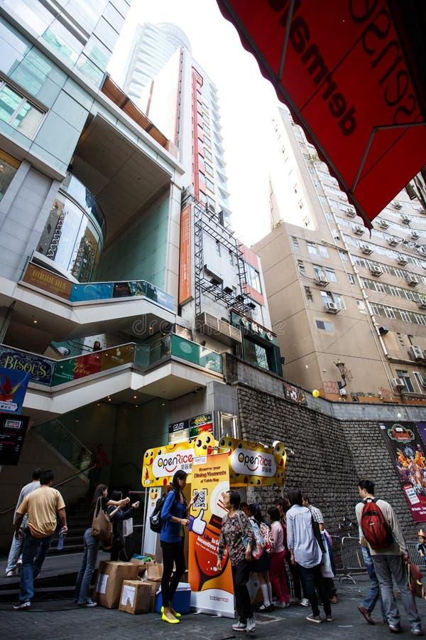 HONG KONG - NOVEMBER 26 2013: Bezige LKF (Lan Kwai Fong Festiv royalty-vrije stock afbeelding