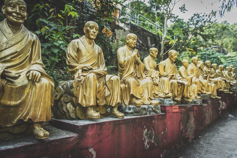 Hong Kong, November 2018 - Ten Thousand Buddhas Monastery Man Fat Sze stock photo