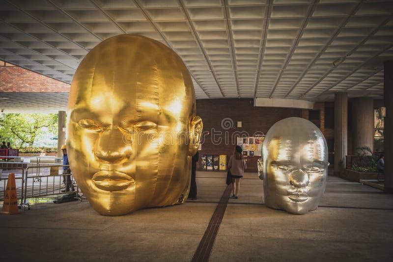 Hong Kong, noviembre de 2018 - cabeza de Buda foto de archivo