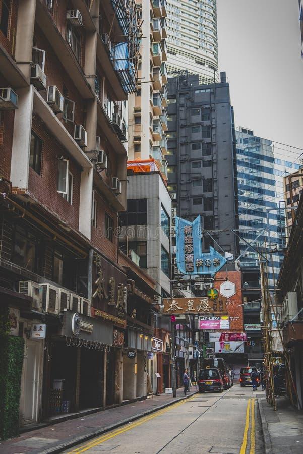 Hong Kong, noviembre de 2018 - ciudad hermosa foto de archivo
