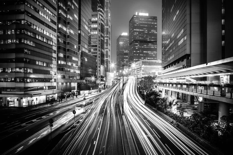 Hong Kong nowożytna architektura Czarny I Biały zdjęcia royalty free