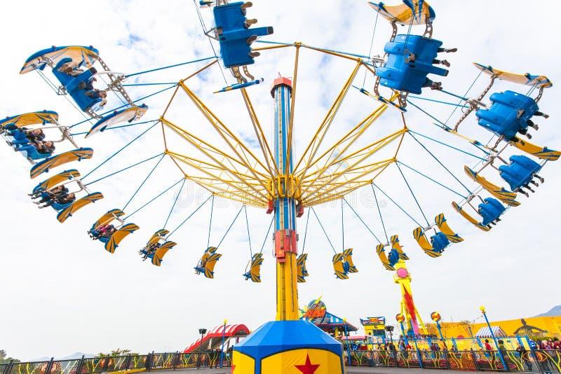 Hong Kong Ocean Park Air Speed royalty free stock photos