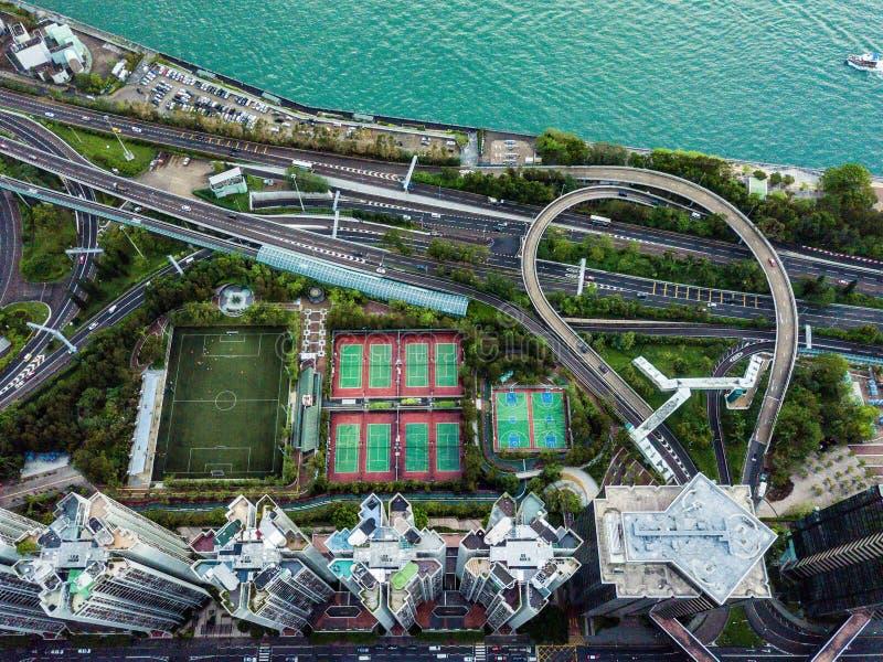 Hong Kong od above zdjęcia stock