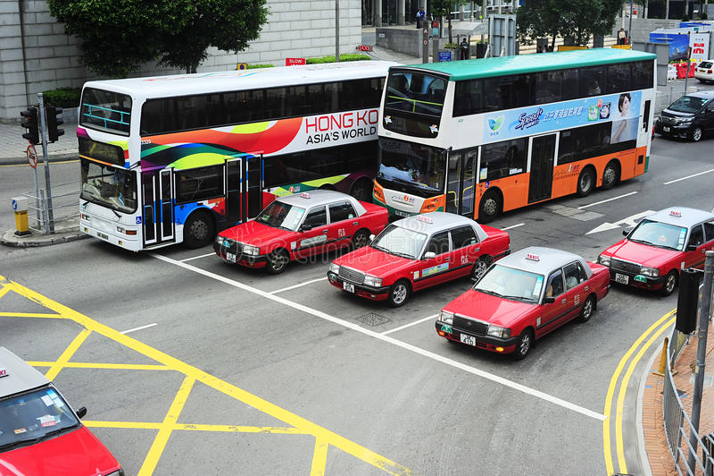 Hong Kong offentlig transport arkivbild