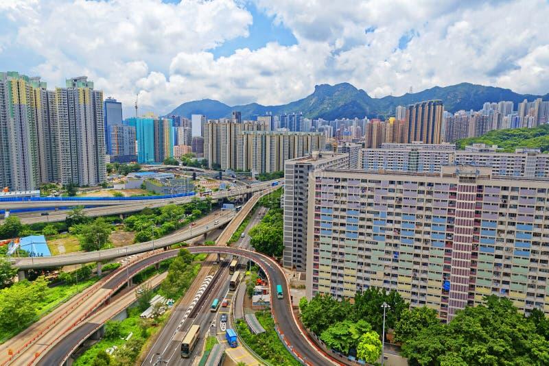 Hong Kong offentliga godsbyggnader royaltyfria bilder