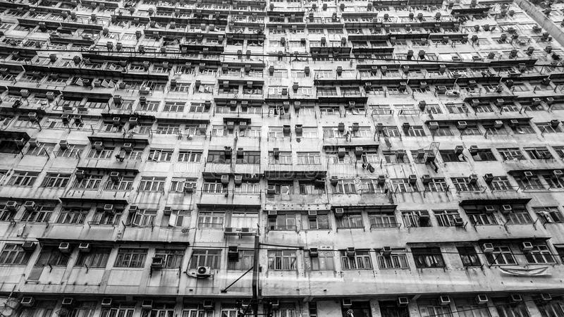 Hong Kong old resident apartment. Local life living in a pack sp stock image