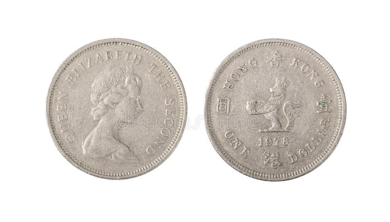 Hong Kong One Dollar Coin immagini stock libere da diritti