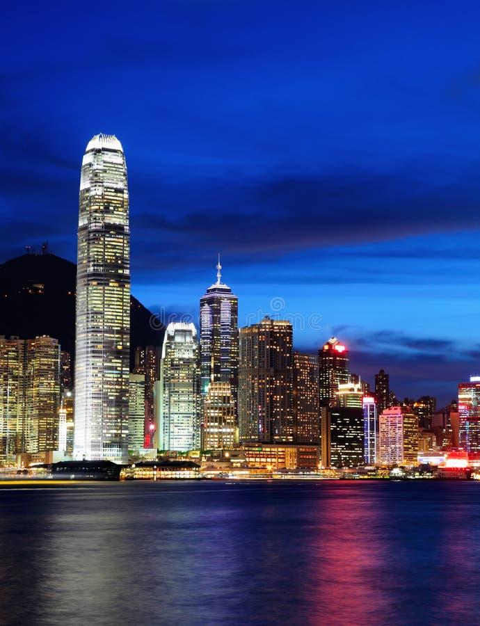 Download Hong Kong på natten fotografering för bildbyråer. Bild av upptaget - 27279531